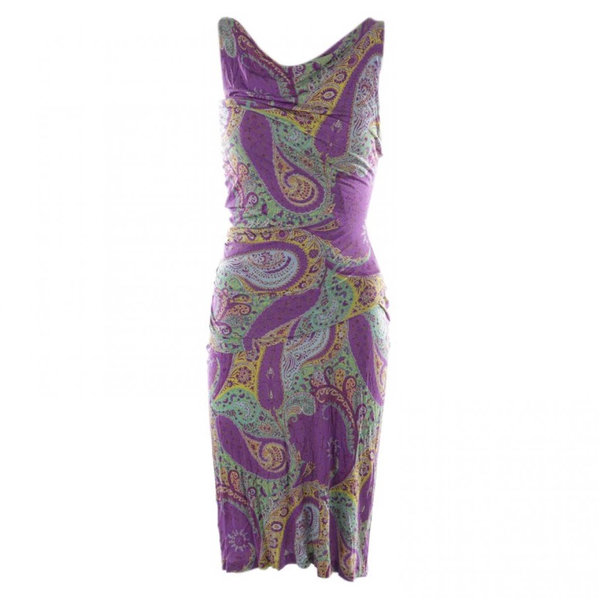 Etro \N Kleid in  Lila Baumwolle