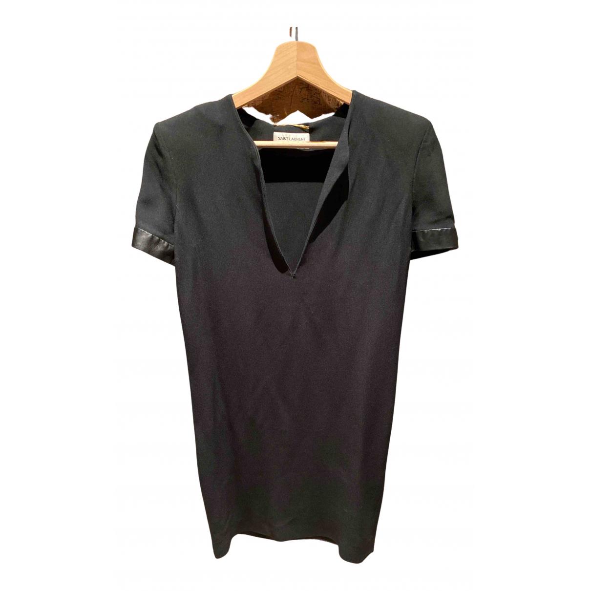 Saint Laurent \N Kleid in  Schwarz Wolle