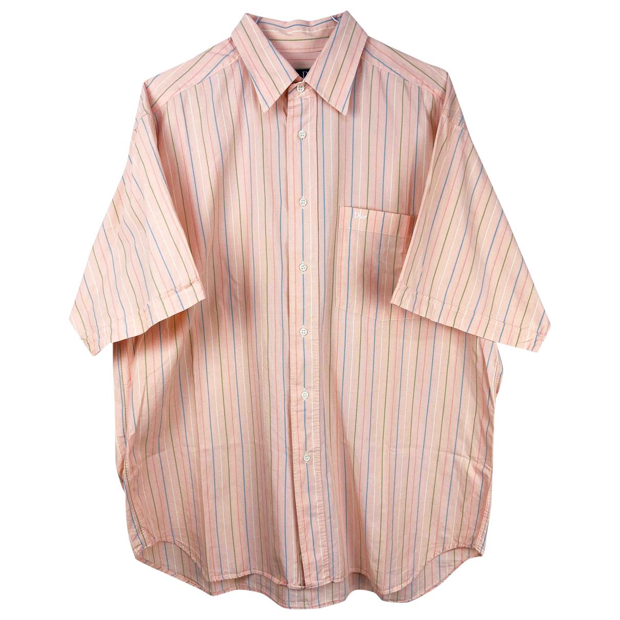 Dior Homme \N Pink Cotton Shirts for Men M International