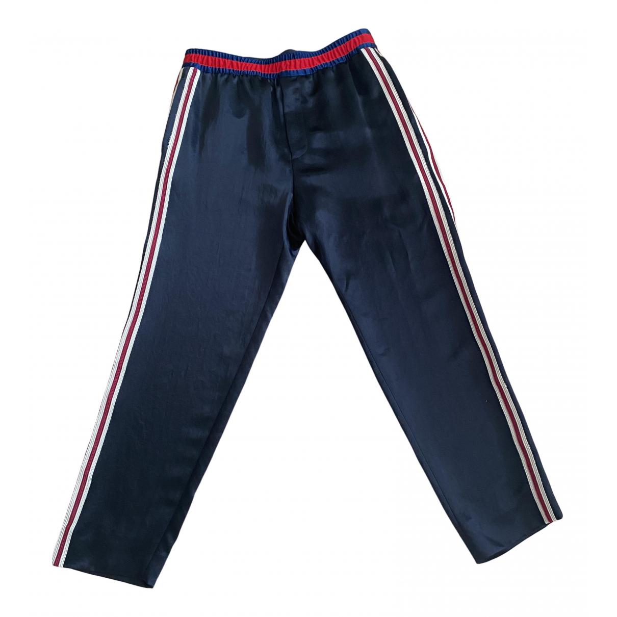 Pantalones en Sintetico Negro Gucci