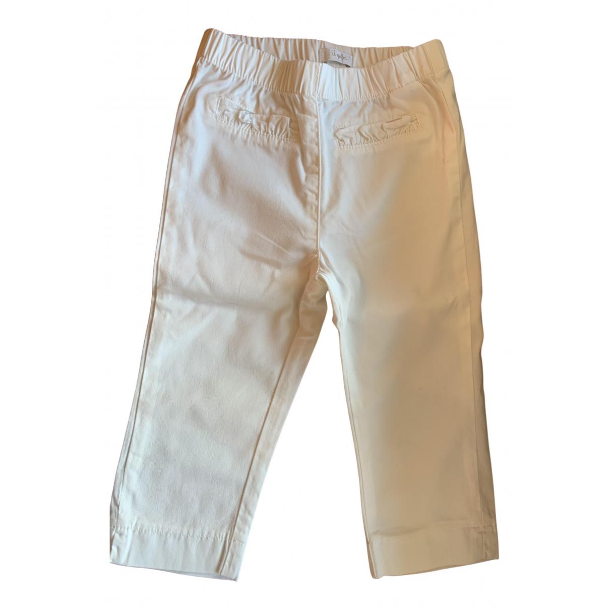 Pantalones en Algodon Blanco Il Gufo