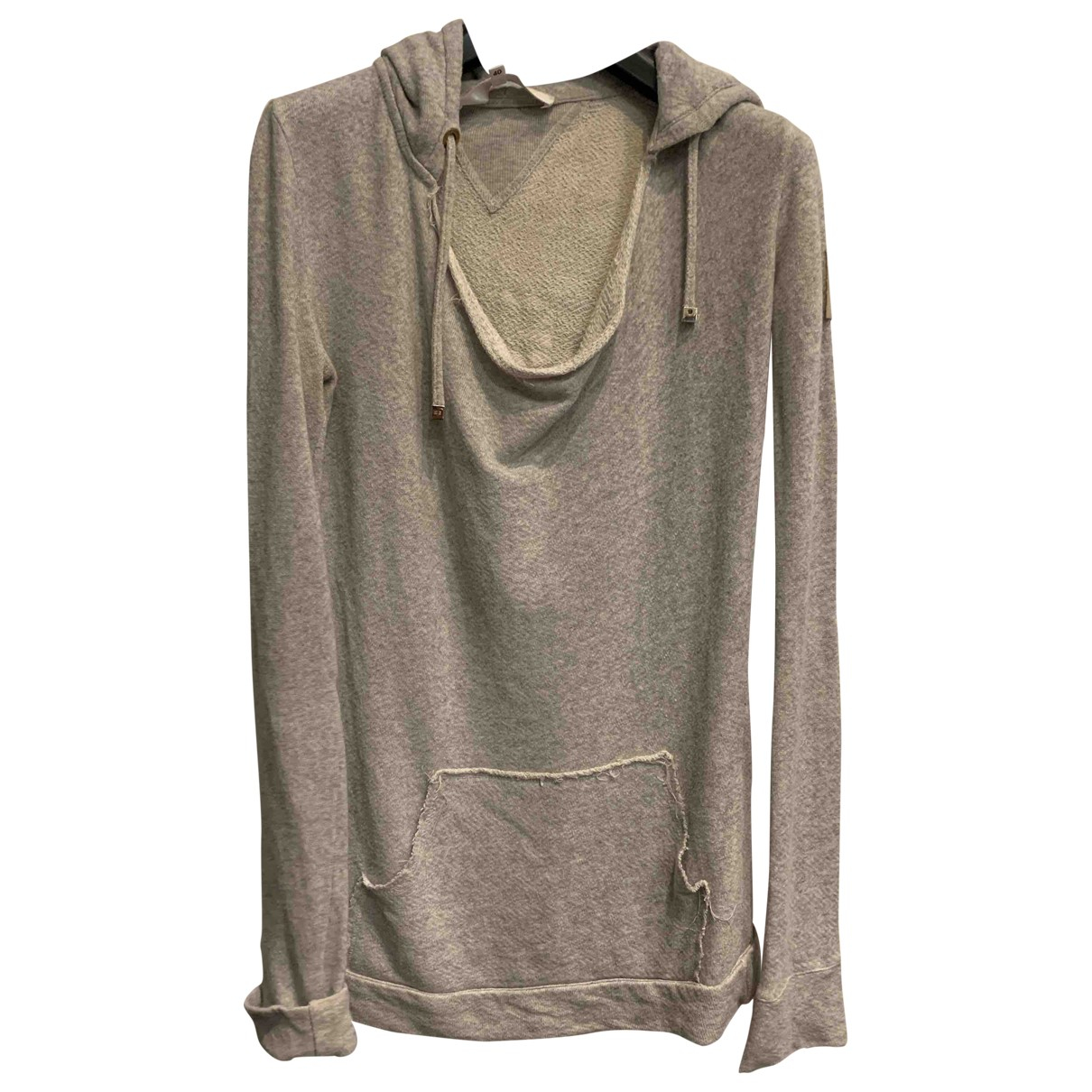 Elisabetta Franchi N Grey Cotton Knitwear for Women 40 IT