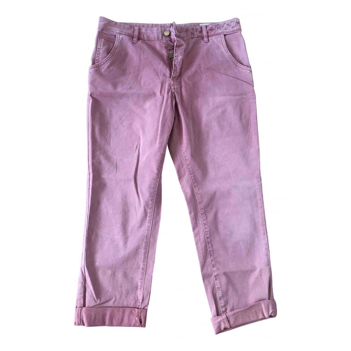 Zadig & Voltaire \N Pink Cotton Trousers for Women 40 FR
