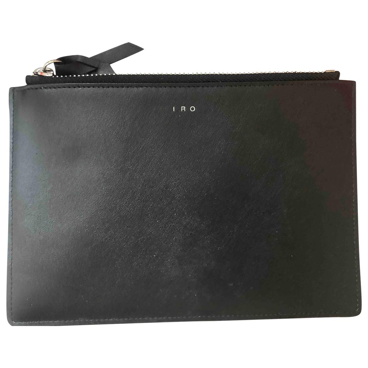 Iro - Petite maroquinerie   pour femme en cuir - noir