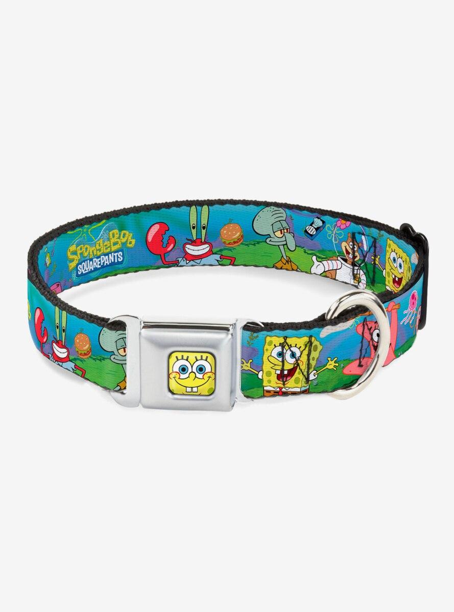 Spongebob Squarepants And Friends Logo Dog Collar Seatbelt Buckle