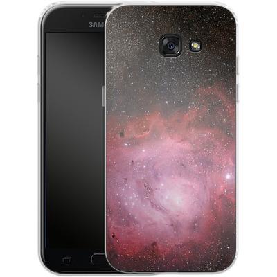 Samsung Galaxy A5 (2017) Silikon Handyhuelle - Pink Nebula von caseable Designs