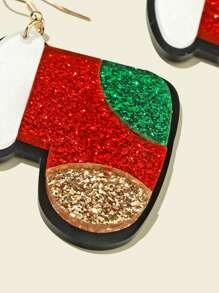 Girls Christmas Shoes Charm Drop Earrings