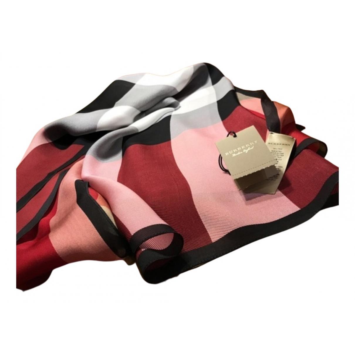 Burberry - Foulard   pour femme en soie - multicolore