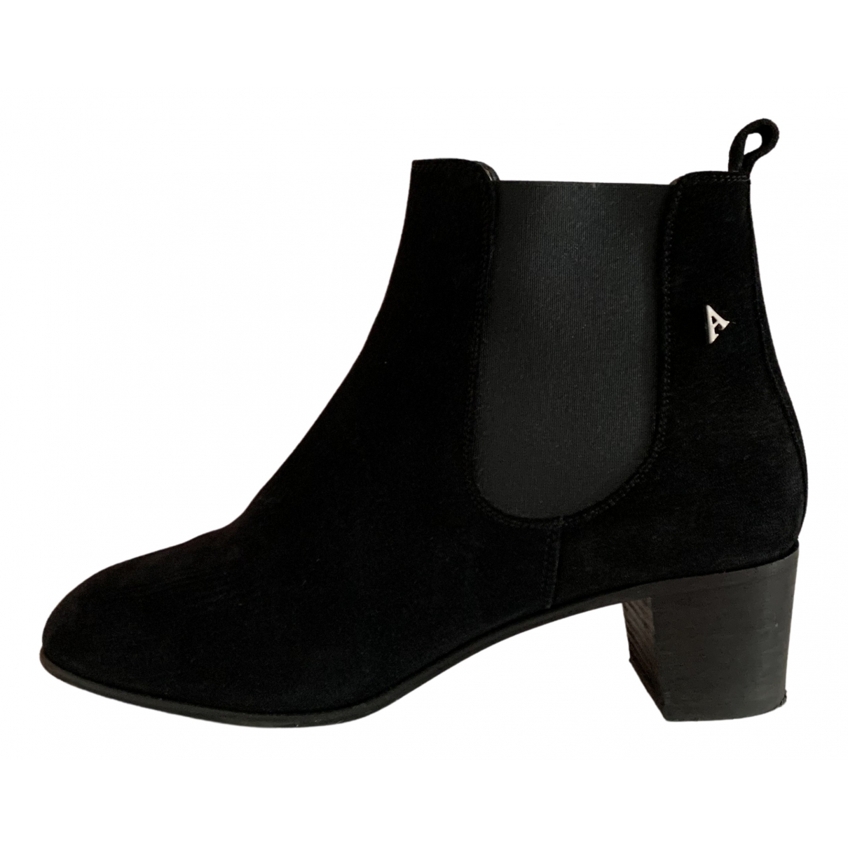Acne Studios N Black Suede Ankle boots for Women 38 EU
