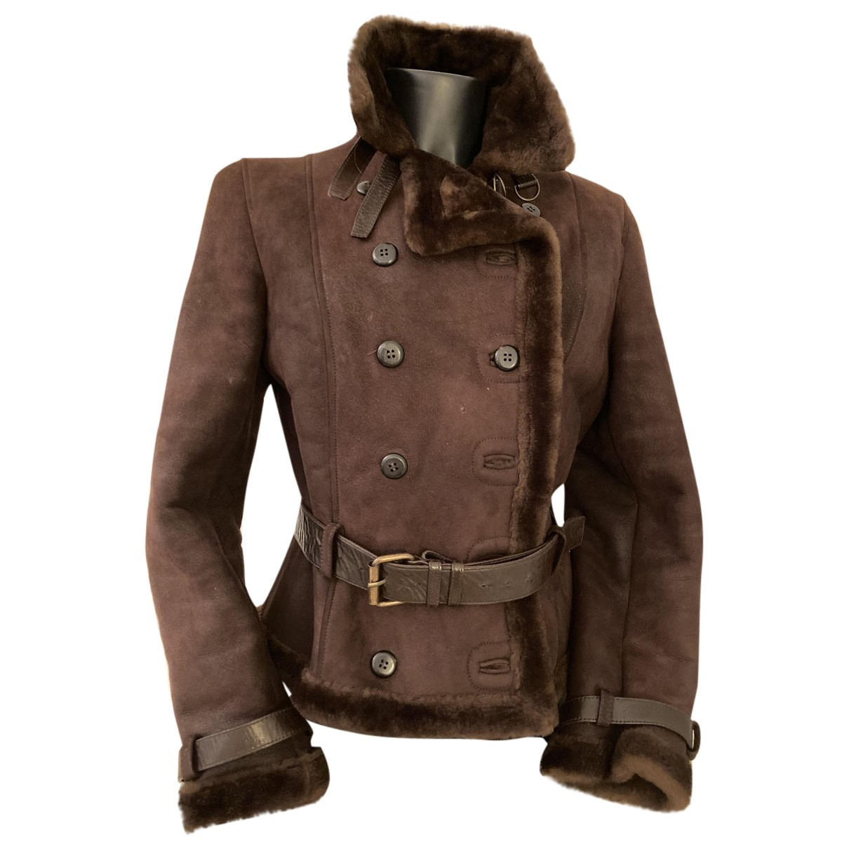 Autre Marque N Brown Leather jacket for Women 46 IT