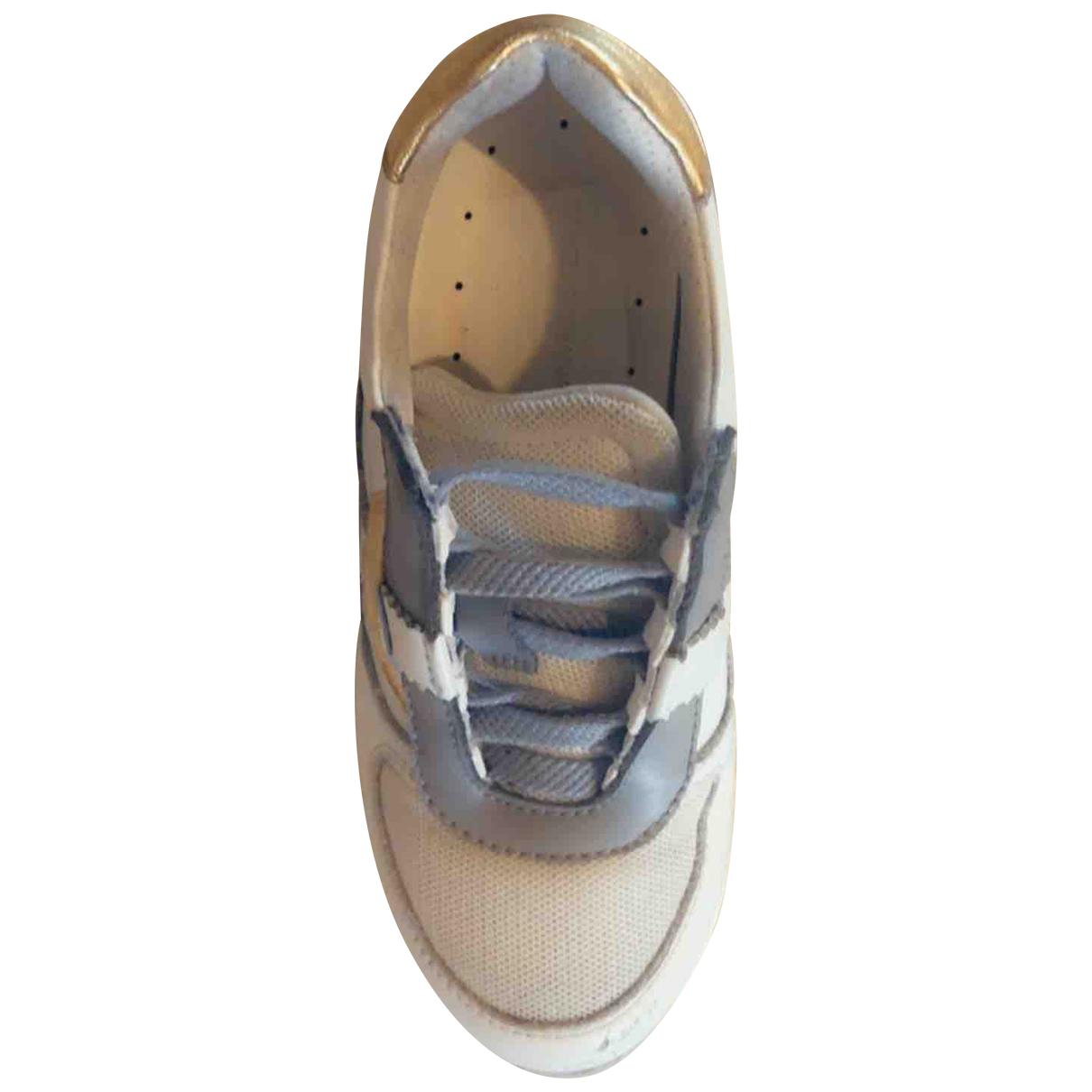 Dolce & Gabbana - Baskets   pour enfant en cuir - gris