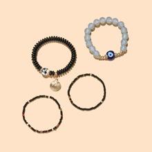 4 Stuecke Armband mit Schale Dekor