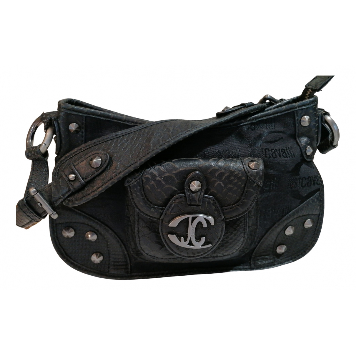 Just Cavalli \N Black Leather Clutch bag for Women \N