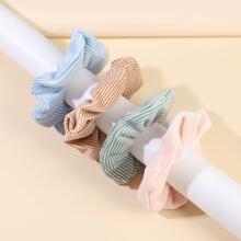 4pcs Stripe Scrunchie