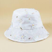 Sequin Decor Bucket Hat