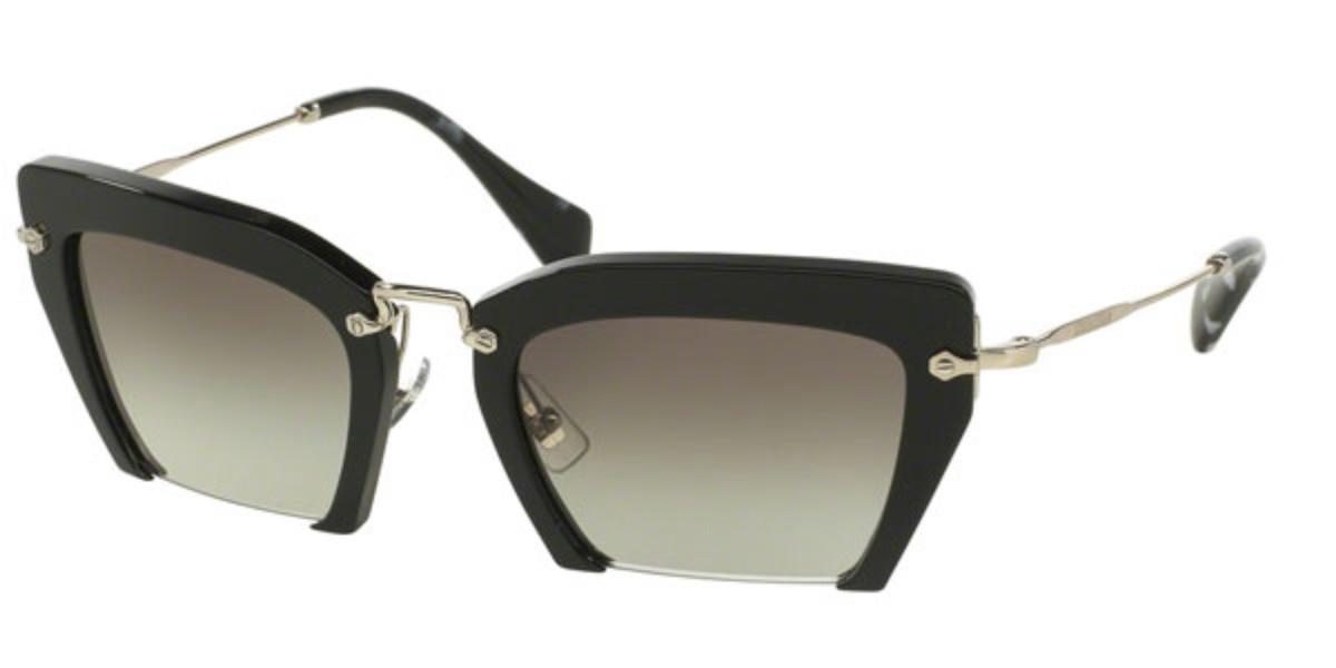 Miu Miu MU10QS RASOIR 1AB0A7 Women's Sunglasses Black Size 54