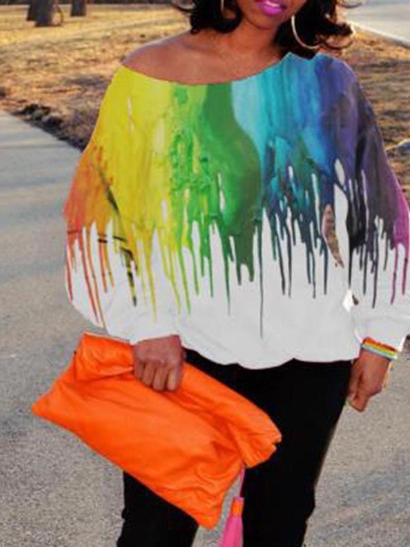 Ericdress Standard Color Block Long Sleeve Loose Women's Shirt