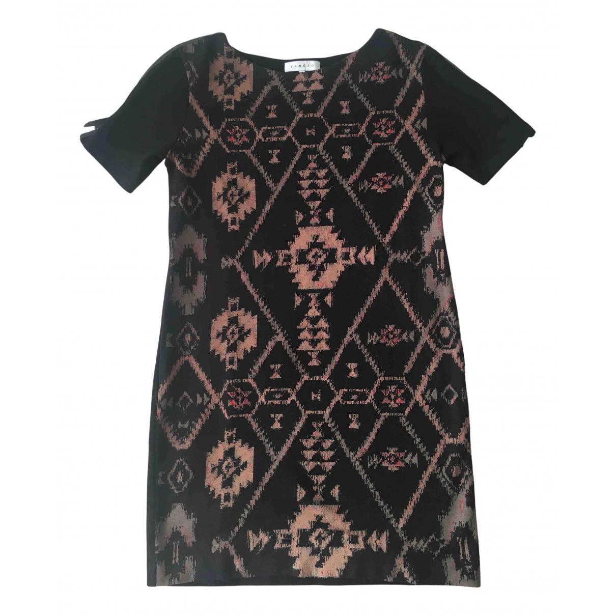 Sandro \N Kleid in  Schwarz Wolle