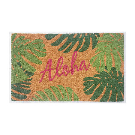 Outdoor Oasis Aloha Rectangular Indoor/Outdoor Doormat, One Size , Green