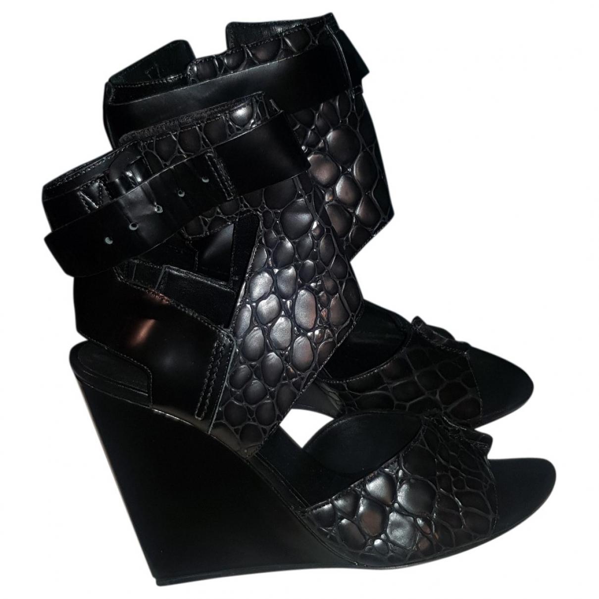 Alexander Wang \N Black Leather Heels for Women 40 EU