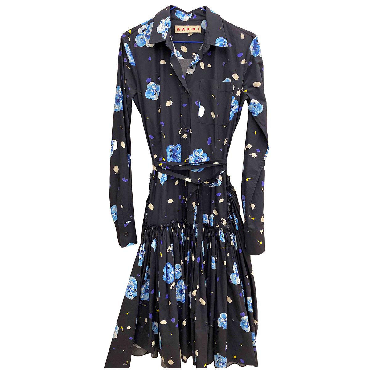 Marni \N Kleid in  Blau Baumwolle