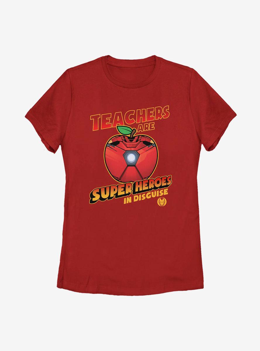 Marvel Iron Man Teachers Are Superheroes Womens T-Shirt