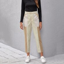 Cut And Sew O-Ring Belted Pants