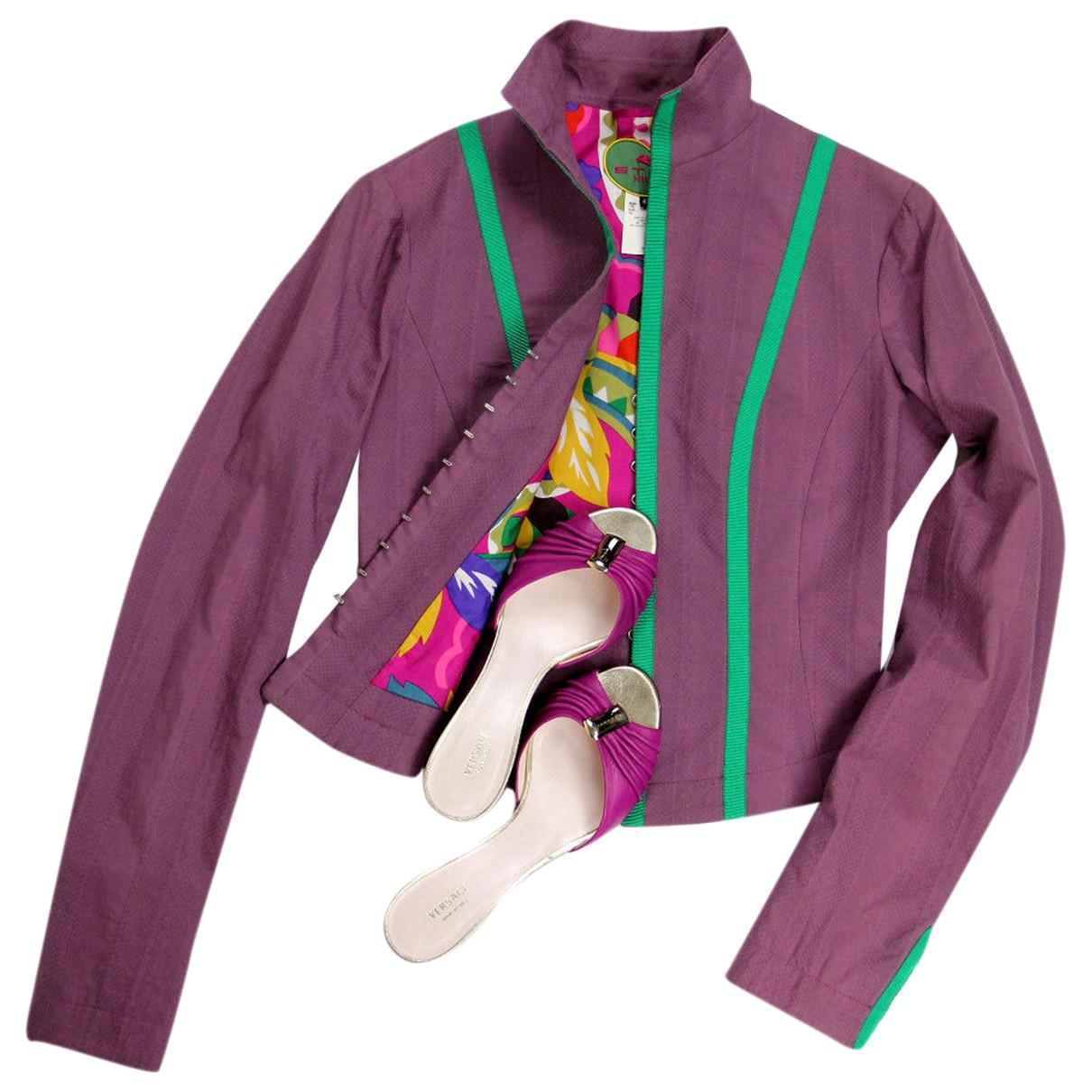Etro - Veste   pour femme en coton - violet