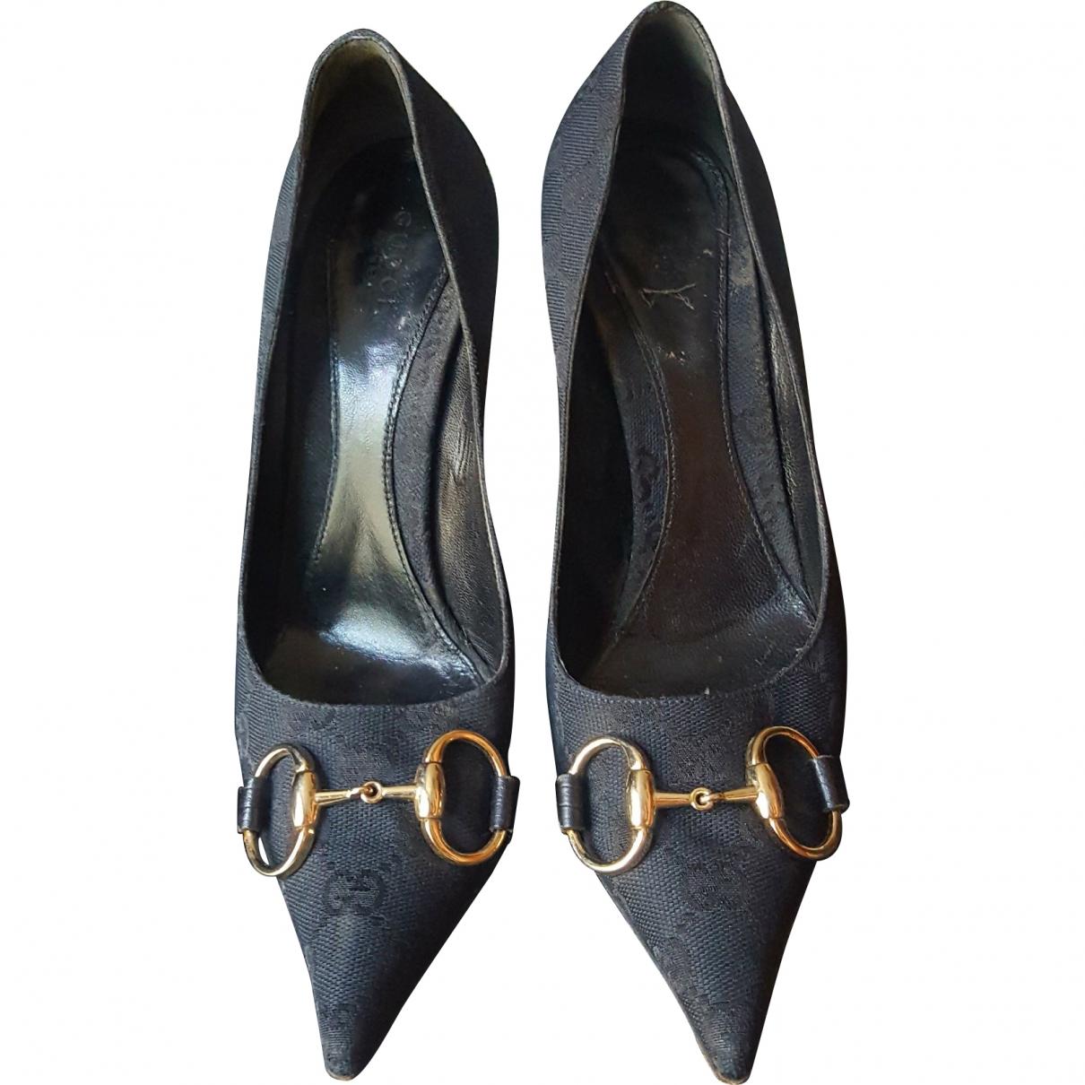 Gucci \N Black Cloth Heels for Women 37 EU