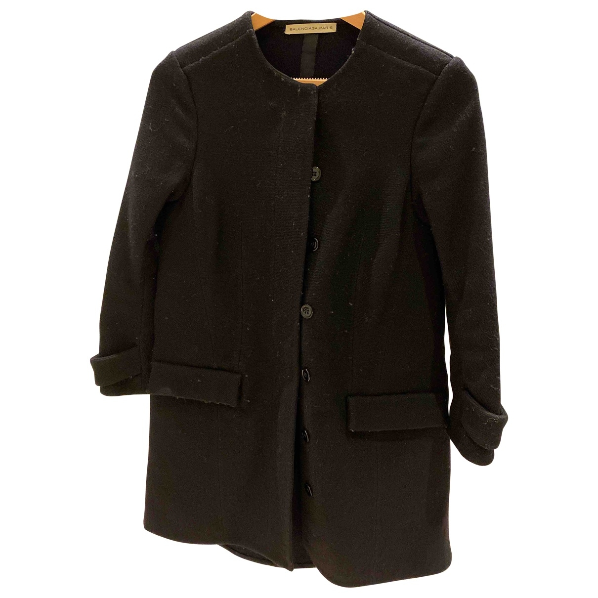 Balenciaga \N Black Wool coat for Women 36 FR