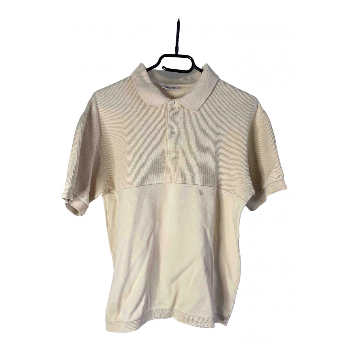 Dior - Polos   pour homme en coton - ecru