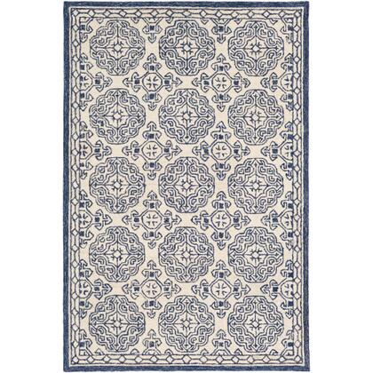 Granada GND-2303 6' x 9' Rectangle Traditional Rug in Dark Blue  Denim