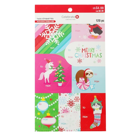 Tween Christmas Sticker Gift Tags By Celebrate It™ | Michaels®