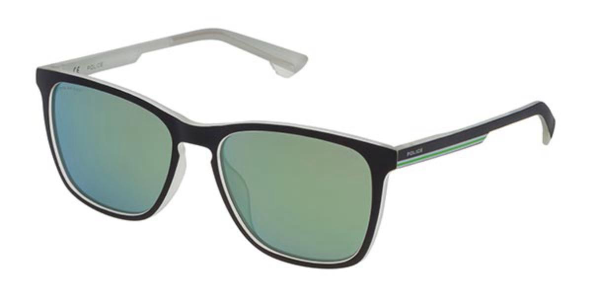 Police SPL573 TRACK 6 Polarized NVAV Men's Sunglasses Black Size 55