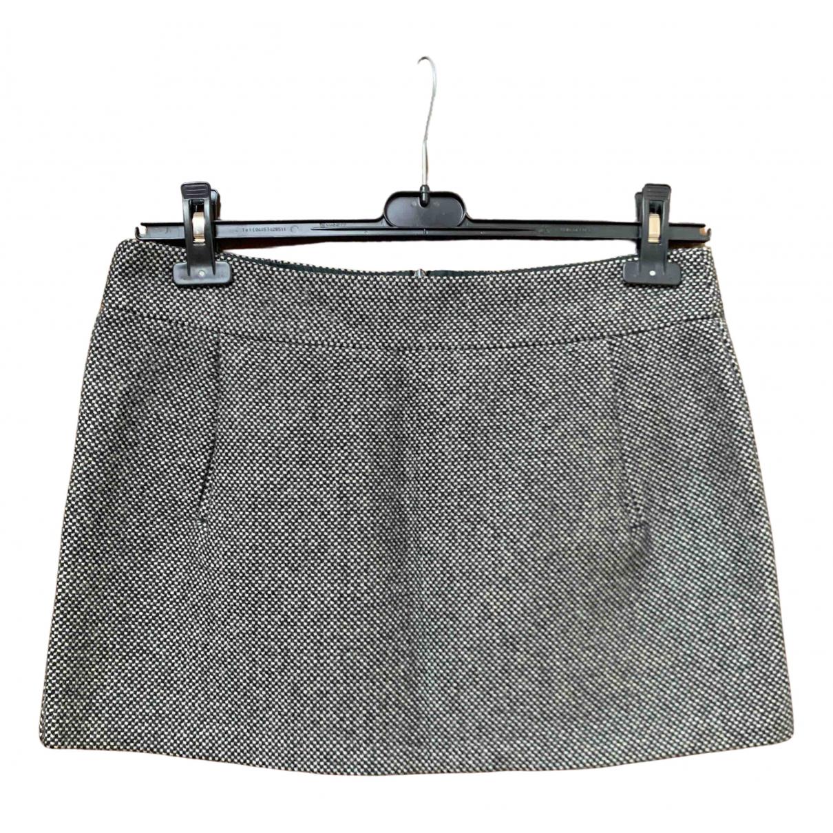 Benetton \N Rocke in  Grau Wolle