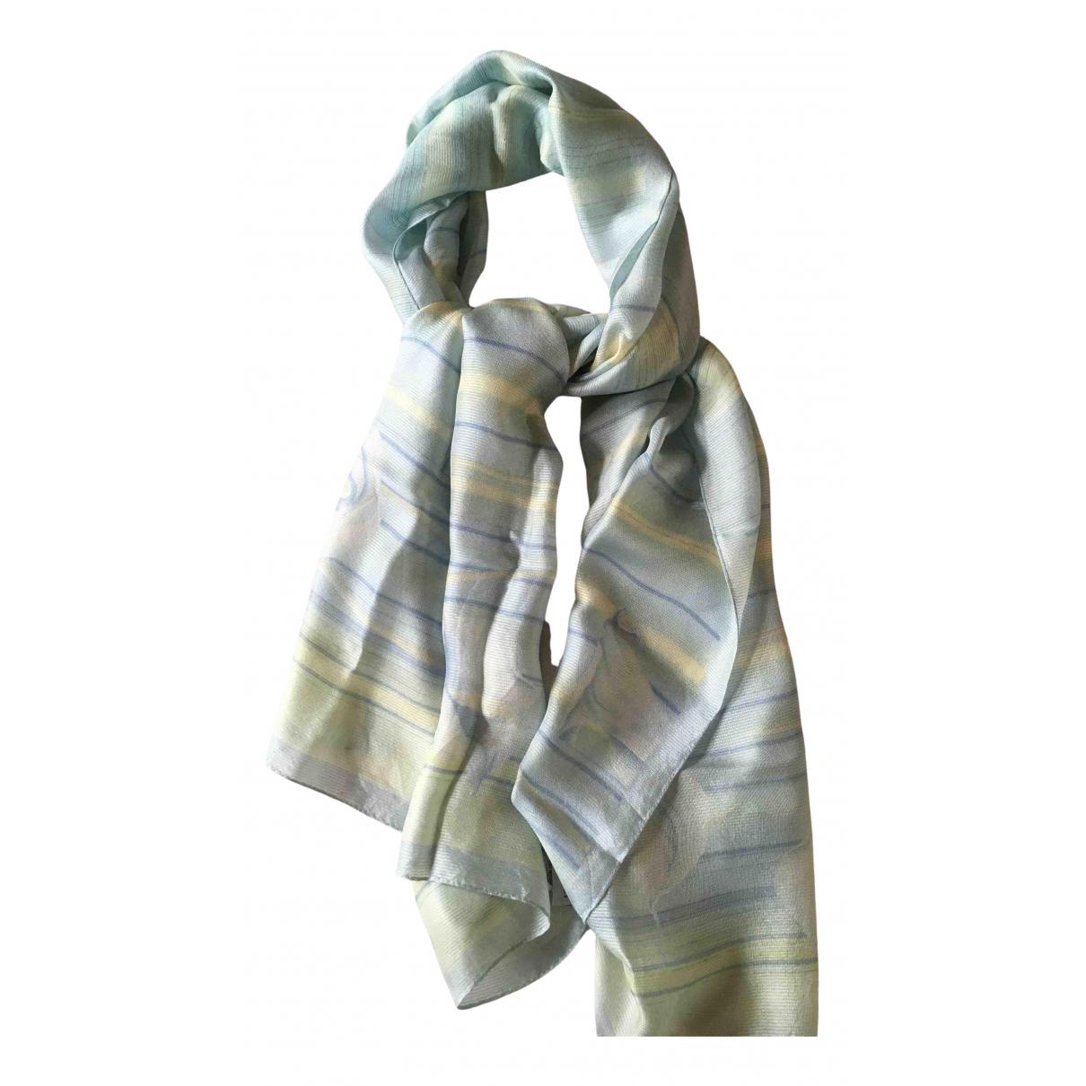 Balmain \N Blue Silk scarf for Women \N
