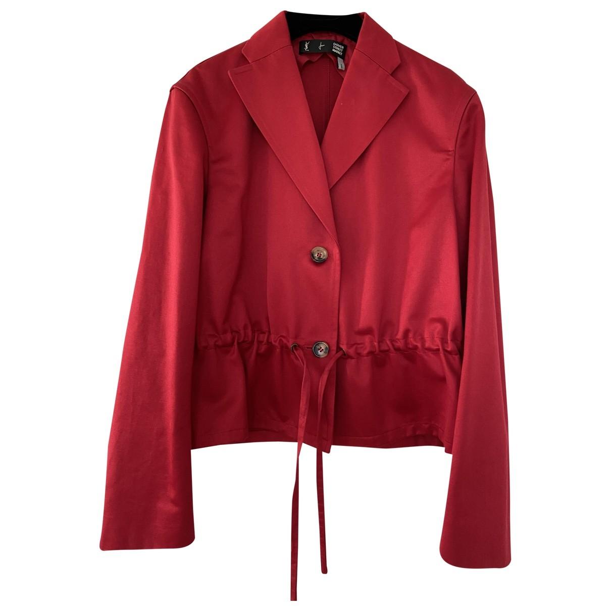 Yves Saint Laurent \N Jacke in  Rot Baumwolle