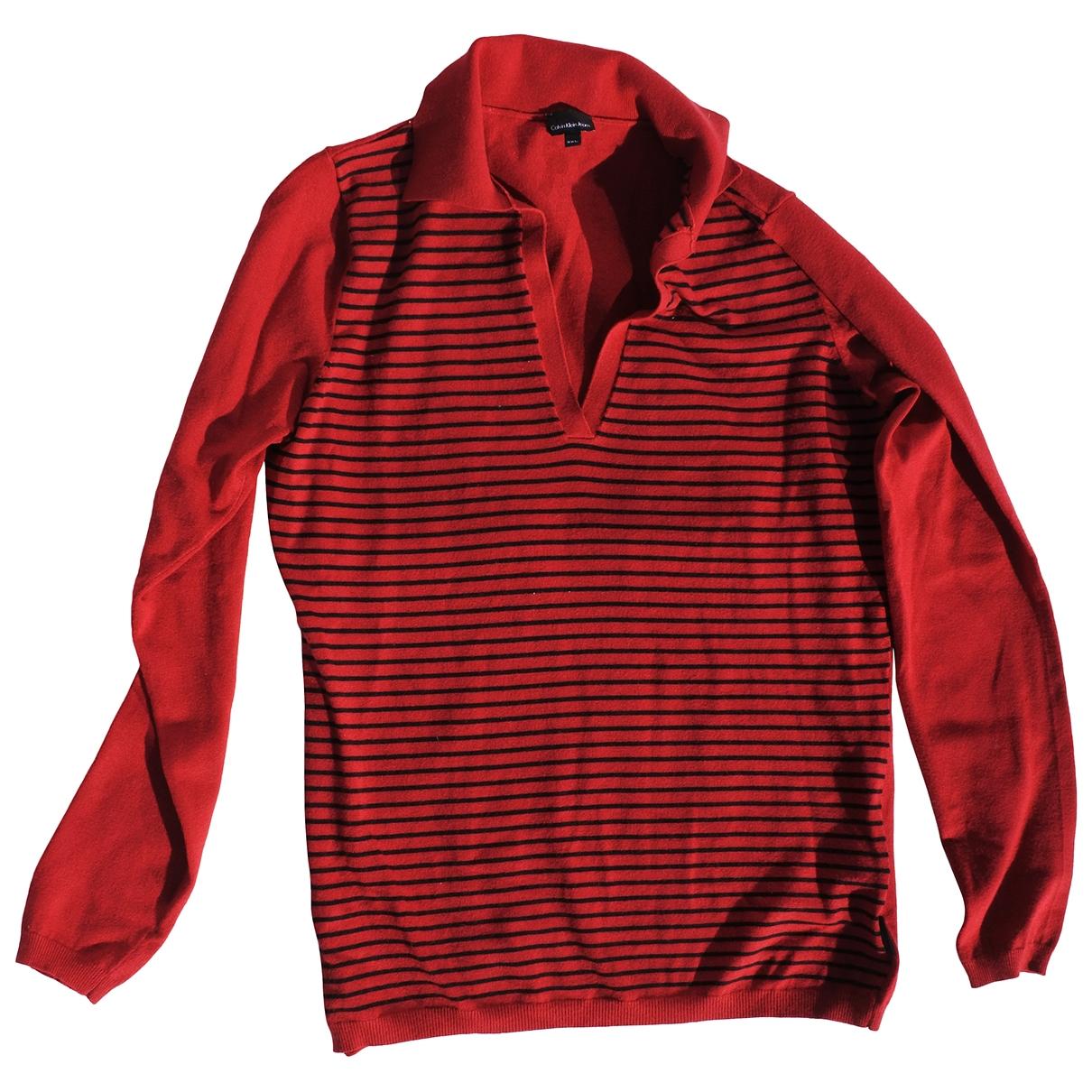 Calvin Klein - Pull   pour femme - rouge