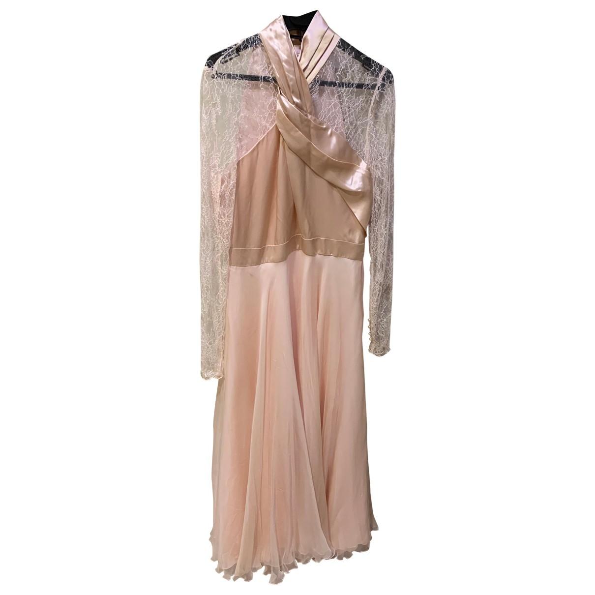 Lanvin - Robe   pour femme en dentelle - multicolore
