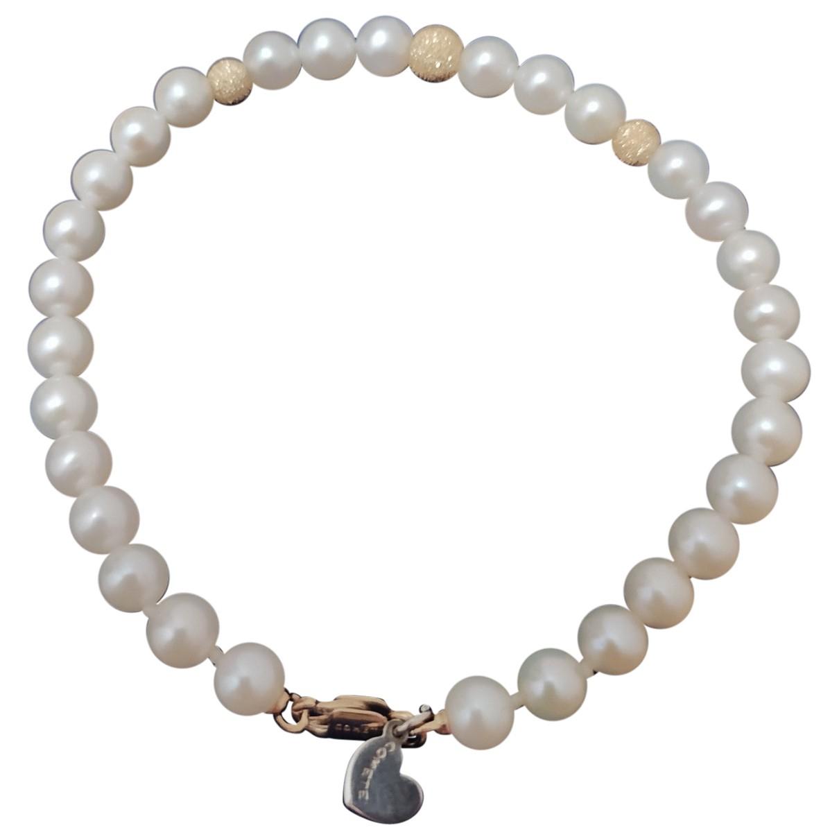 - Bracelet   pour femme en perle - blanc