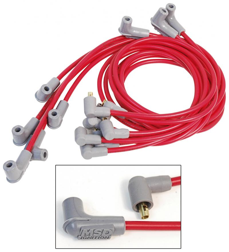 MSD Wire Set; Super Conductor; Big Block Chevy; Socket Distributor Cap
