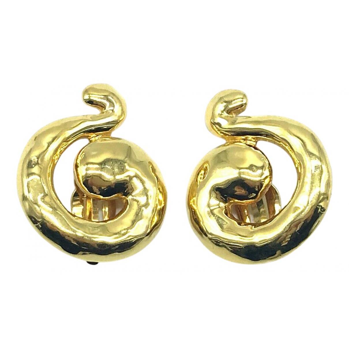 Yves Saint Laurent - Boucles doreilles   pour femme en plaque or
