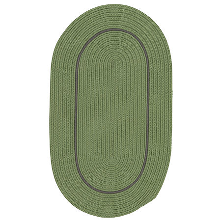 Colonial Mills Sapphire Bay Braided Oval Reversible Indoor/Outdoor Rugs, One Size , Green