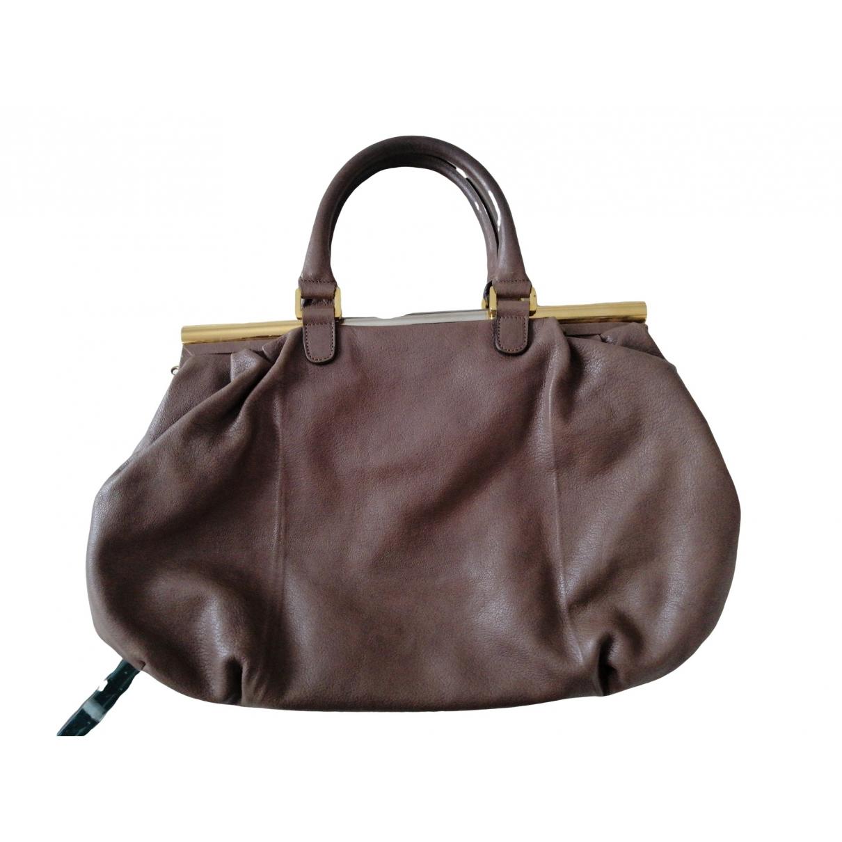 Furla - Sac a main   pour femme en cuir - ecru