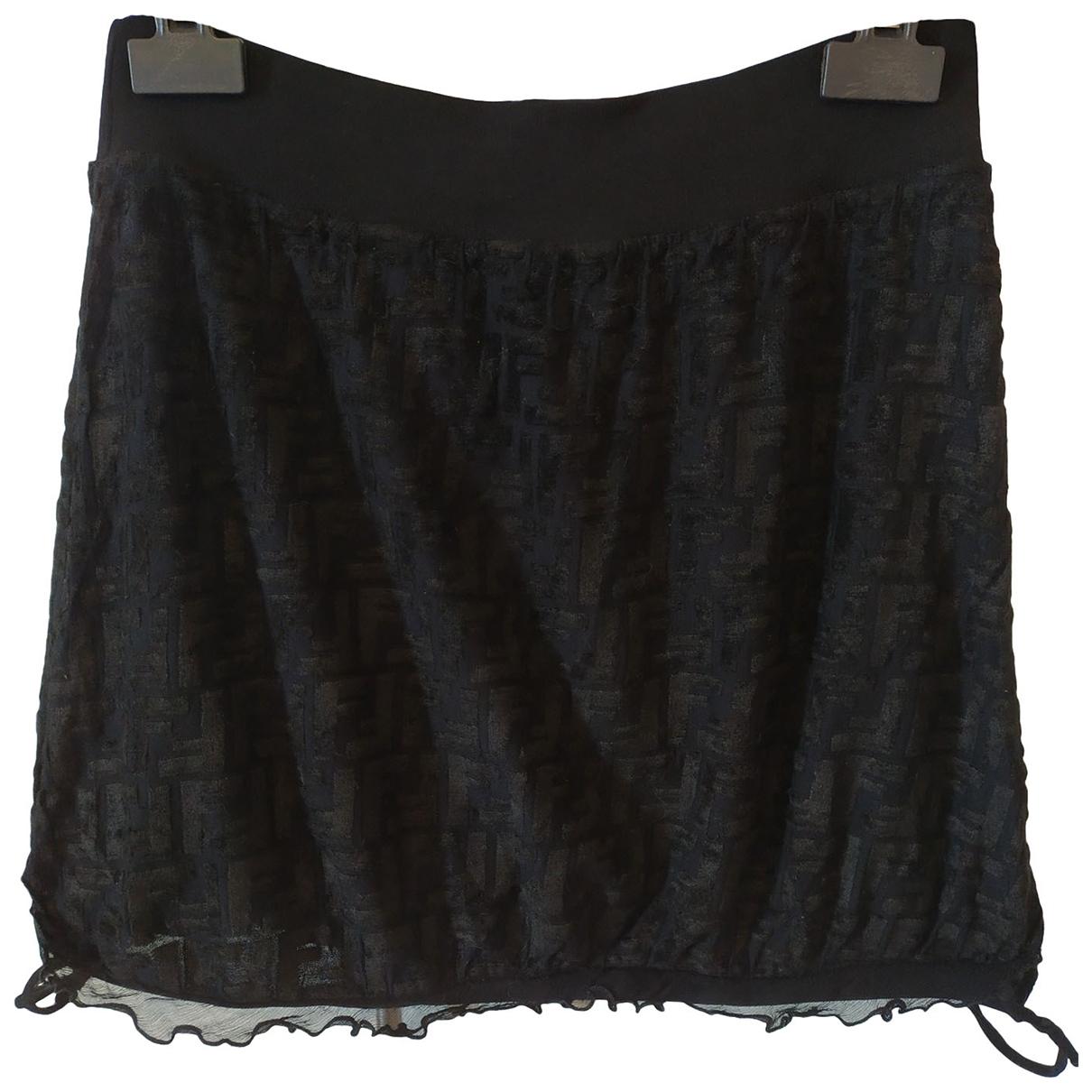Fendi - Jupe   pour femme en coton - noir