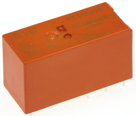 TE Connectivity , 5V dc Coil Non-Latching Relay SPDT, 16A Switching Current PCB Mount Single Pole