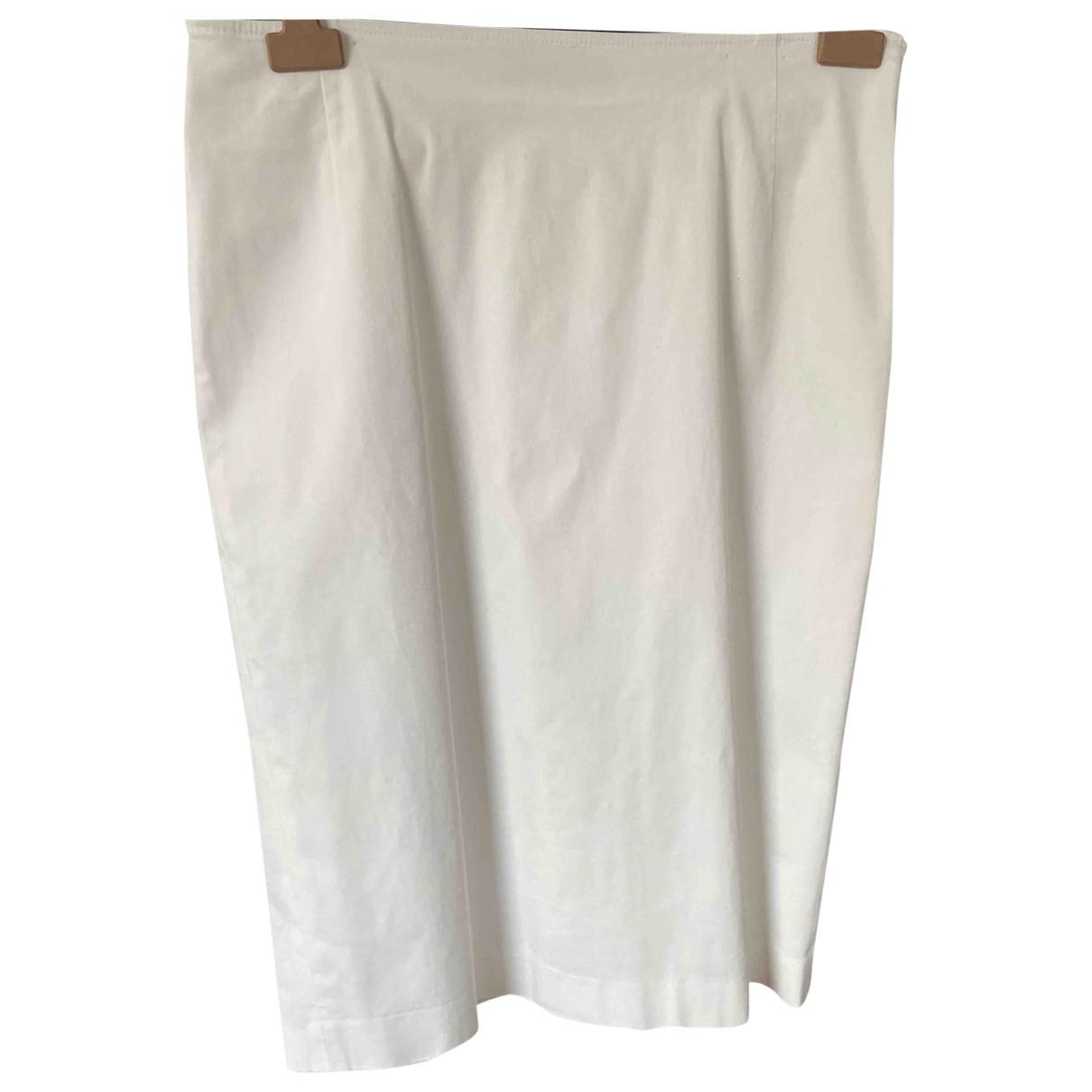 Max Mara Studio - Jupe   pour femme en coton - blanc