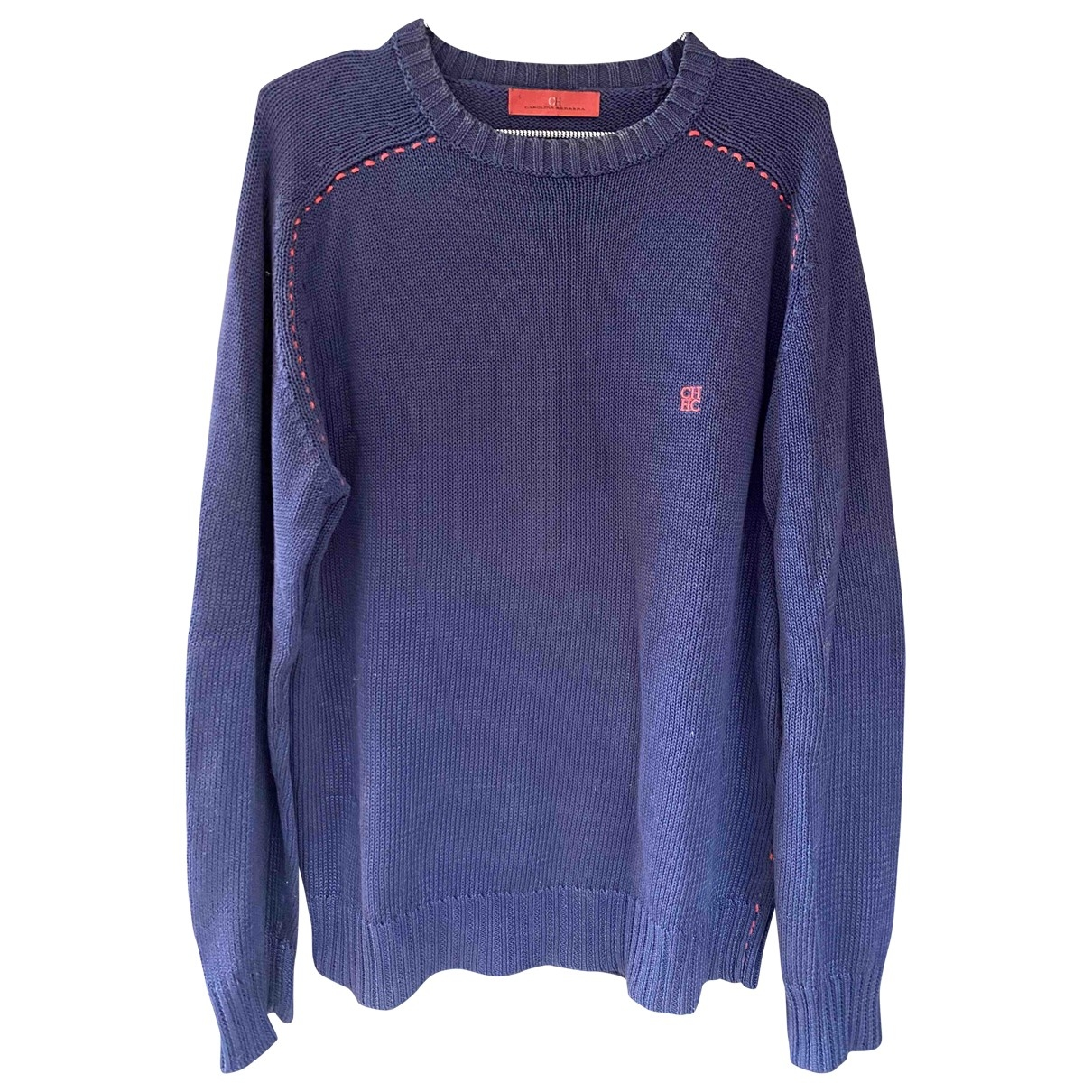 Carolina Herrera \N Blue Cotton Knitwear & Sweatshirts for Men S International