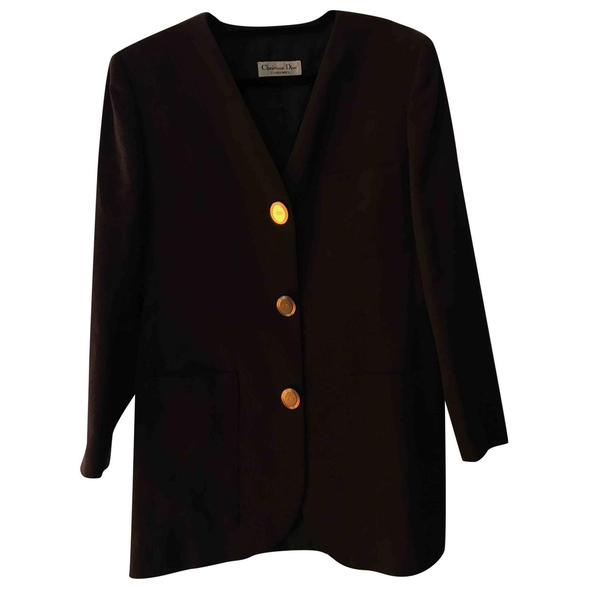 Dior \N Jacke in  Braun Wolle
