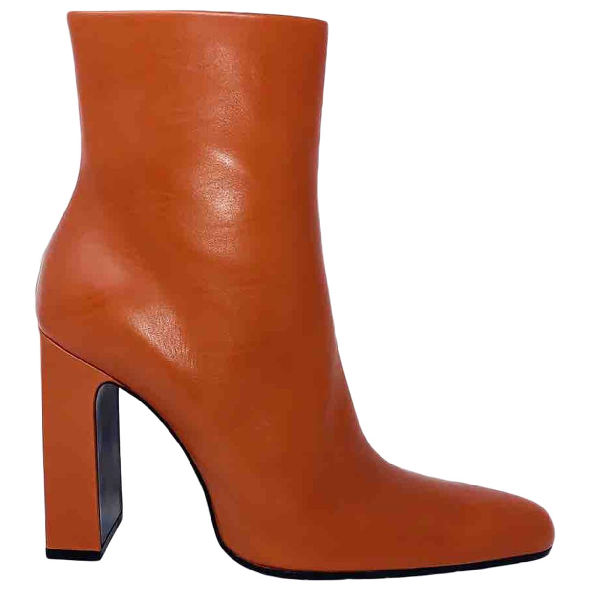 Balenciaga - Boots   pour femme en cuir - camel